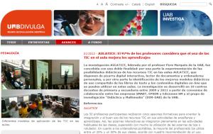 Estudio publicado en la web de UAB Divulga